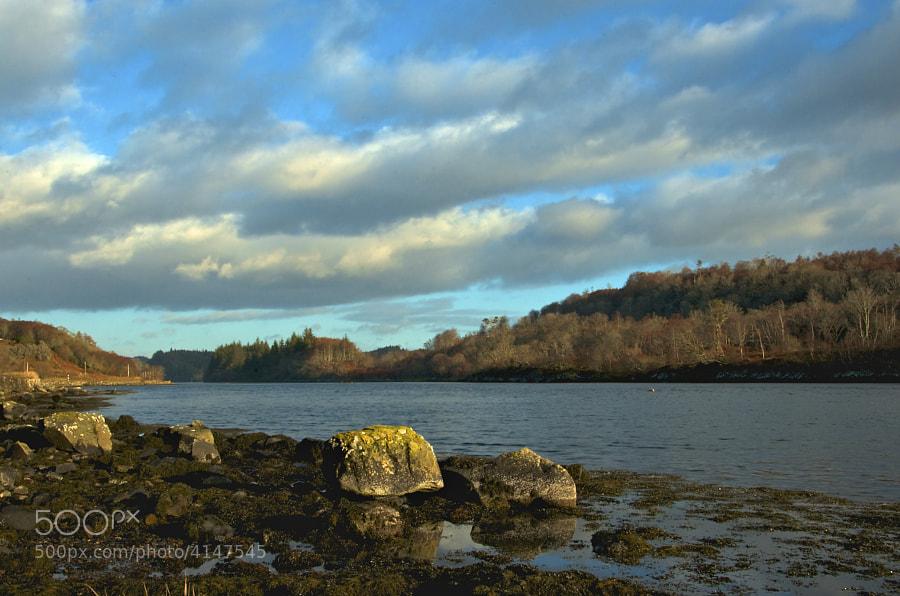 A sea loch, formimg a gateway to the sea near Tayvallich, Argyll.