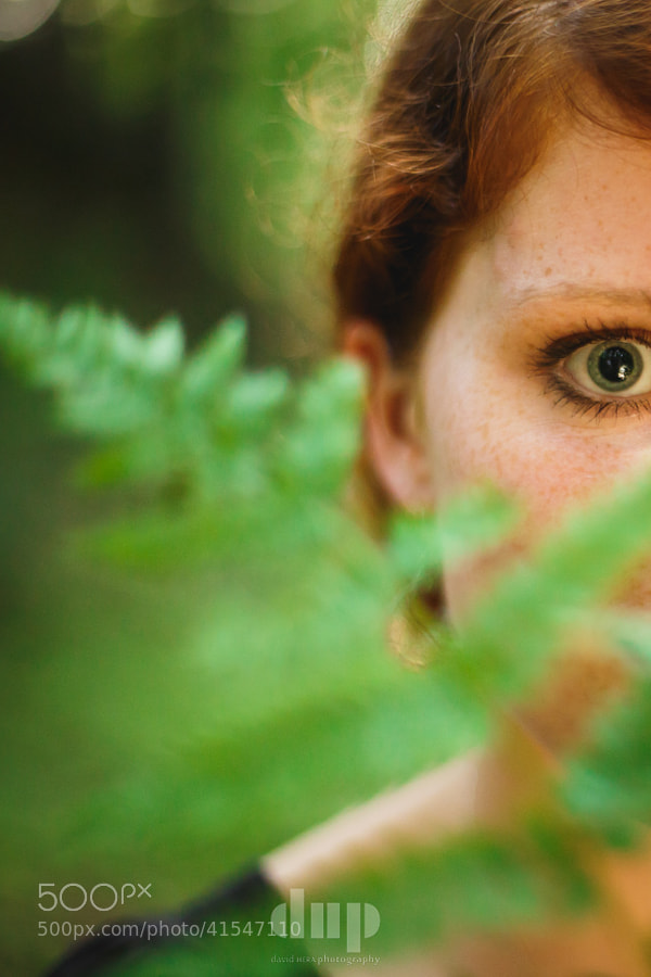 First shot of Maike, peeking behind a fern. More to come!