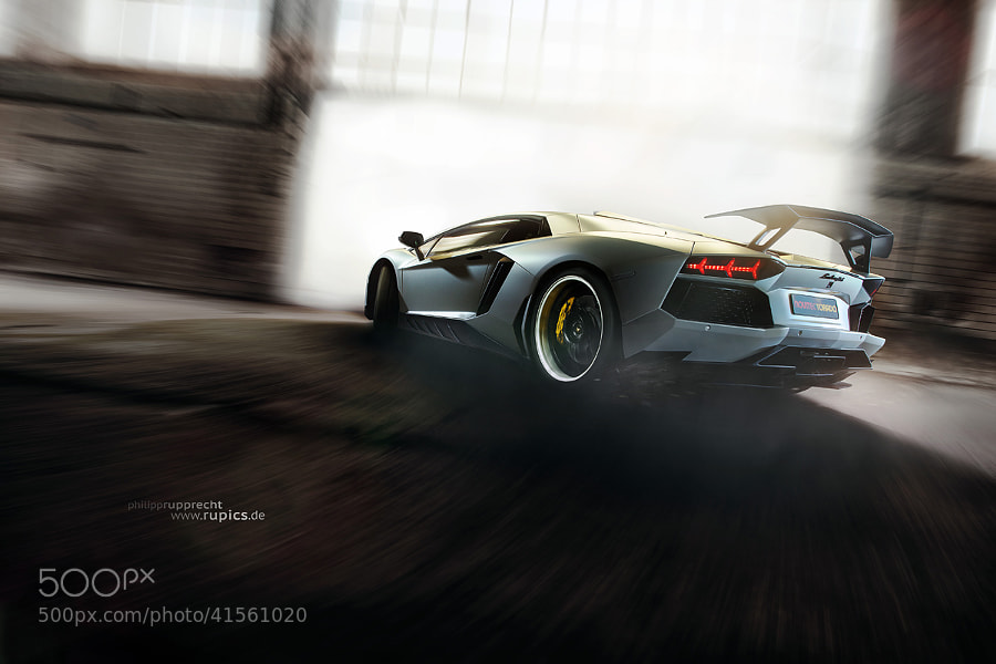 Photograph Lamborghini Aventador by NovitecRosso 1 by Philipp Rupprecht on 500px