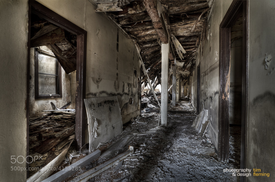 Photograph Hallway, Mare Island by Tim Fleming on 500px