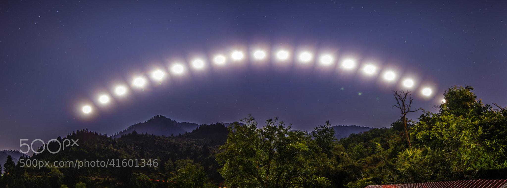 Photograph The moon's travel... by KONSTANTINOS BASILAKAKOS on 500px