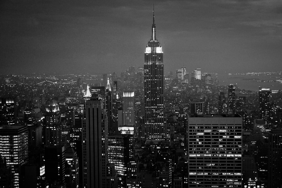 Image taken at the top of Rockefeller Center with the lower Manhattan in the background