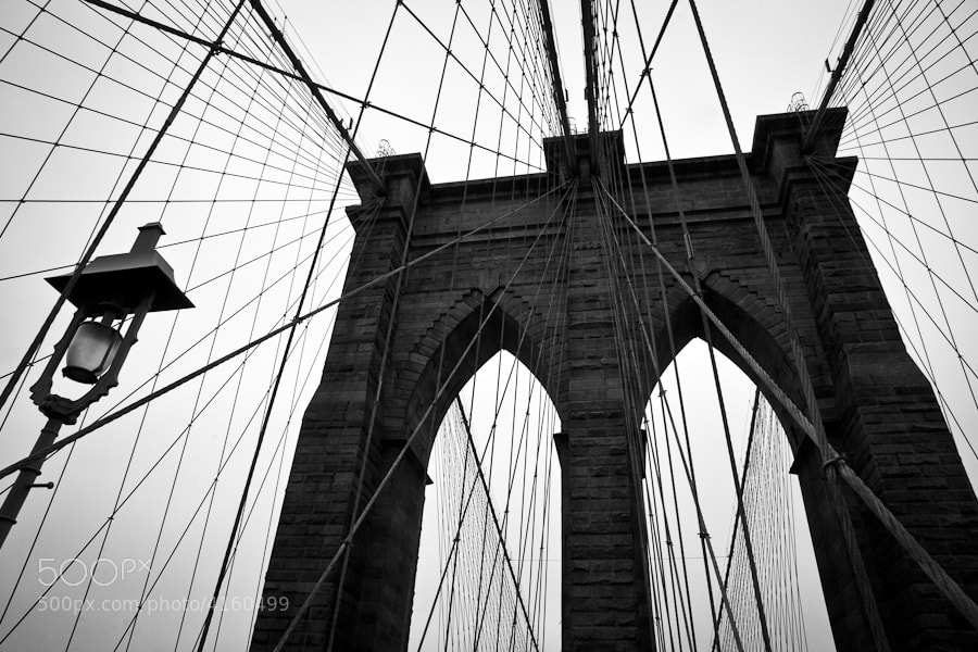 Image taken while walking over the Brooklyn Bridge