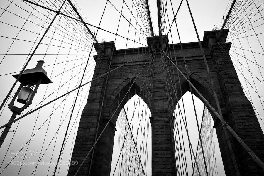 Image taken while walking over the Brooklyn Bridge