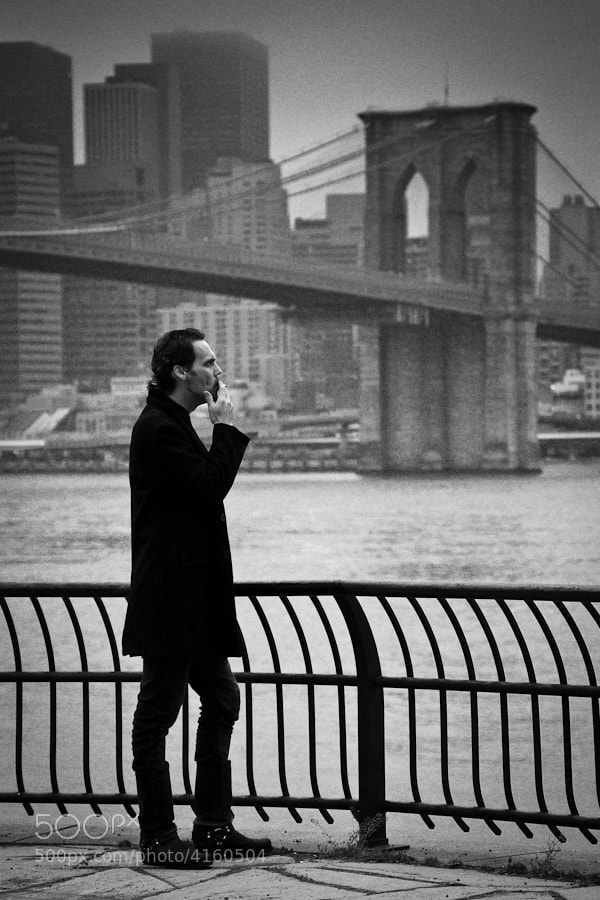 Image taken at Empire-Fulton Ferry State Park in Brooklyn looking toward the Brooklyn Bridge and lower Manhattan