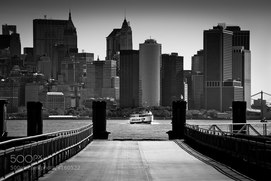 Image taken from the pier on Liberty Island