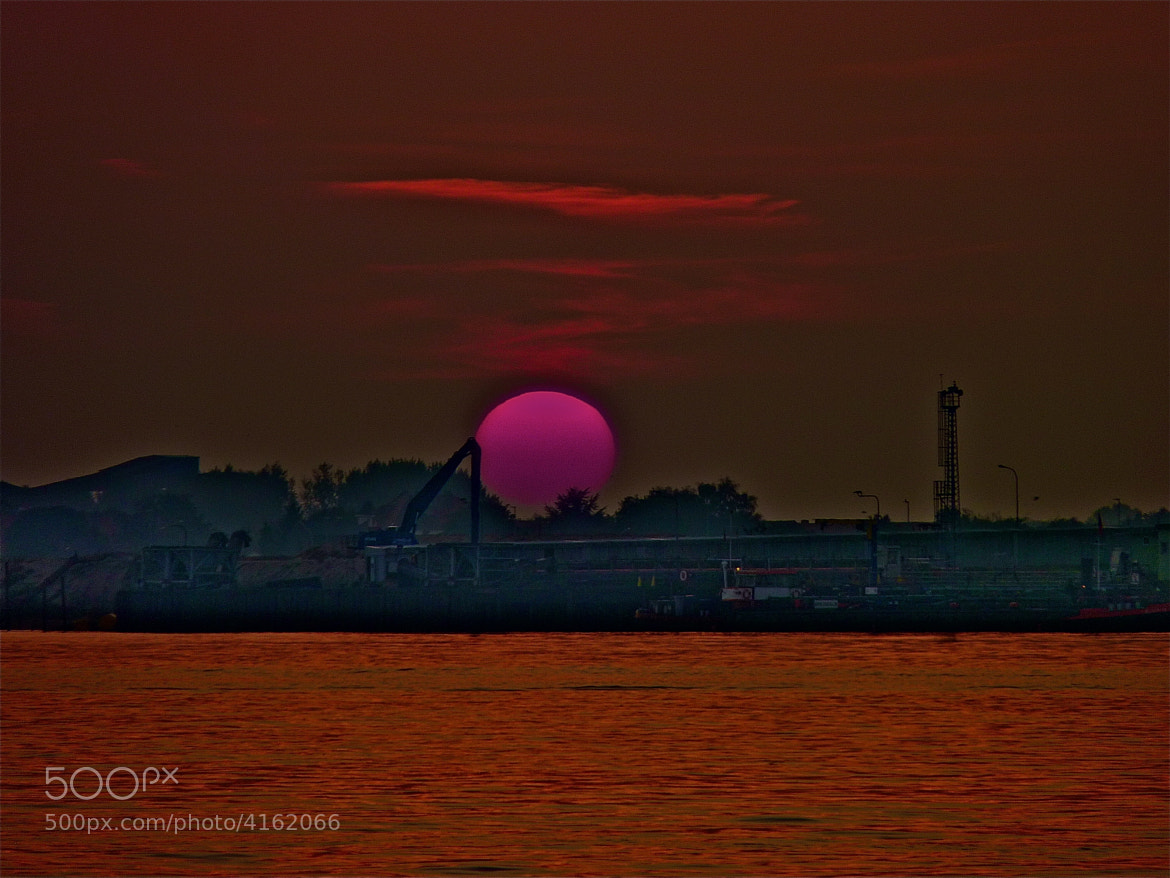 Photograph pink sun by Wilfried Grühn on 500px