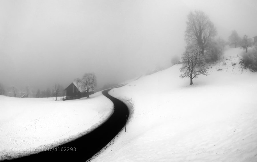Photograph Curve-Snow by Ercan Akkaya on 500px