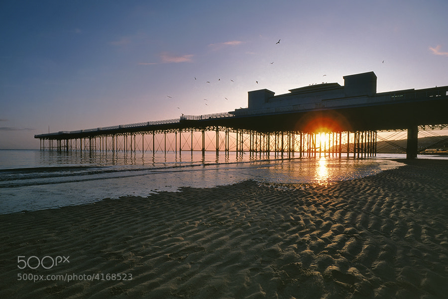 COLWYN BAY PIER AT DAWN NORTH WALES UK