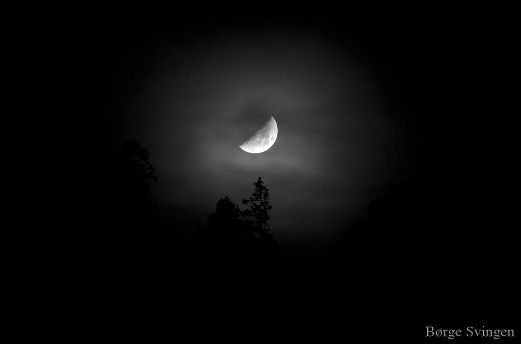 Photograph New Year Moon by Børge Svingen on 500px