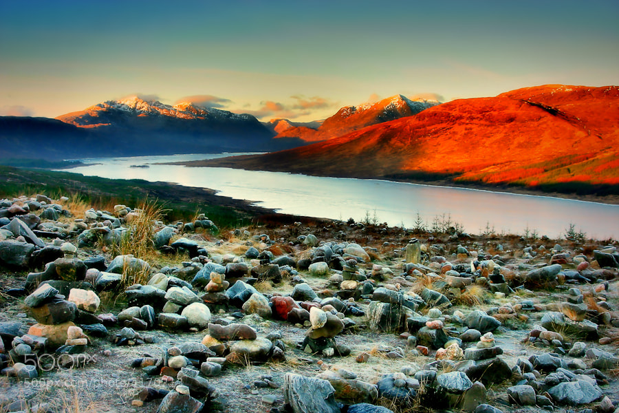 Other-worldy boulder field at Loch Loyne, Highlands