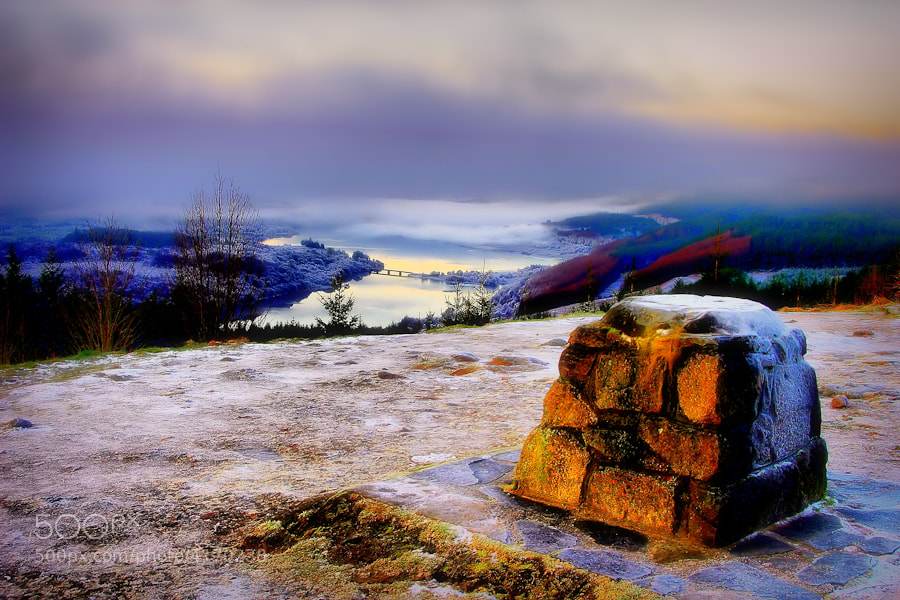 Viewpoint at Loch Garry, Highlands, Scotland