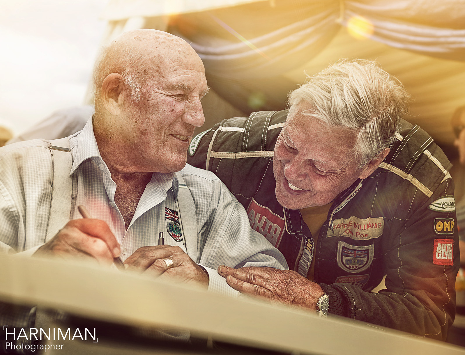 Photograph Sir Stirling Moss & Barrie Whizzo Williams by Nigel Harniman on 500px