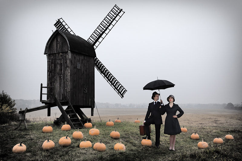 Photograph The Travellers Between Pumpkins by Ralph Graef on 500px