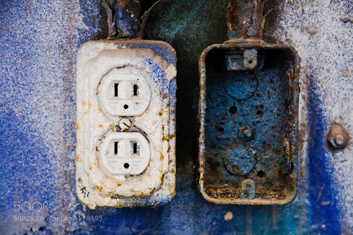 Photograph Rusty wall socket by Vincent Demers on 500px