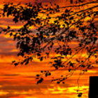 September sunrise over East Vancouver.