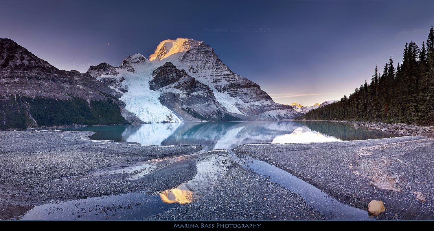 Photograph Mt. Robson and Berg Lake by Marina Bass on 500px