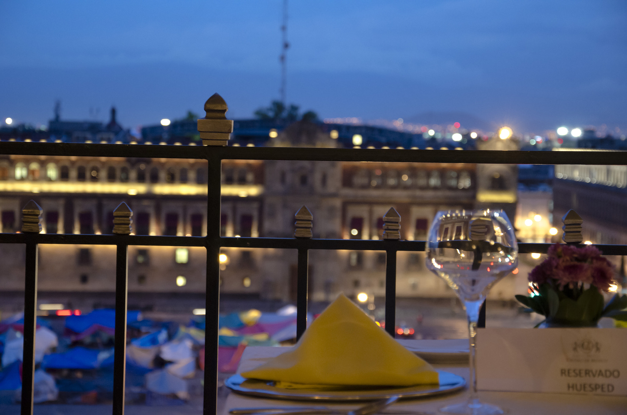Photograph Dinner at Zocalo (Mexico's Central Square) by Víctor Cruz on 500px