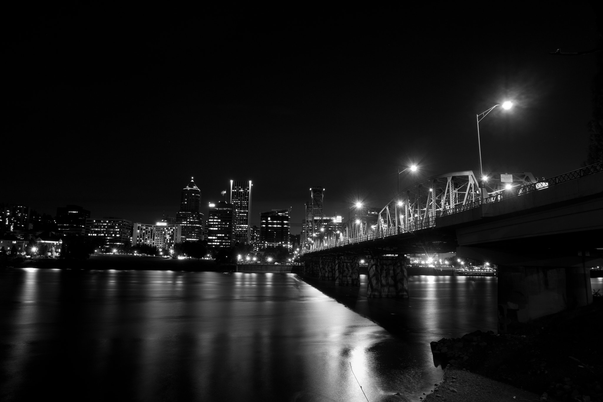 Photograph B&W Time of Night by Sarah Turner on 500px
