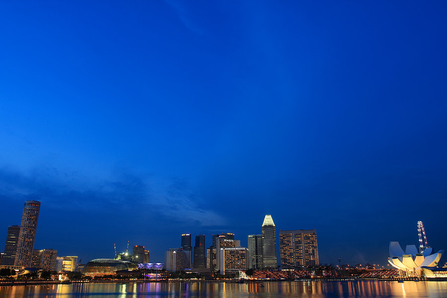 Marina Bay (Evening Blue Hour)