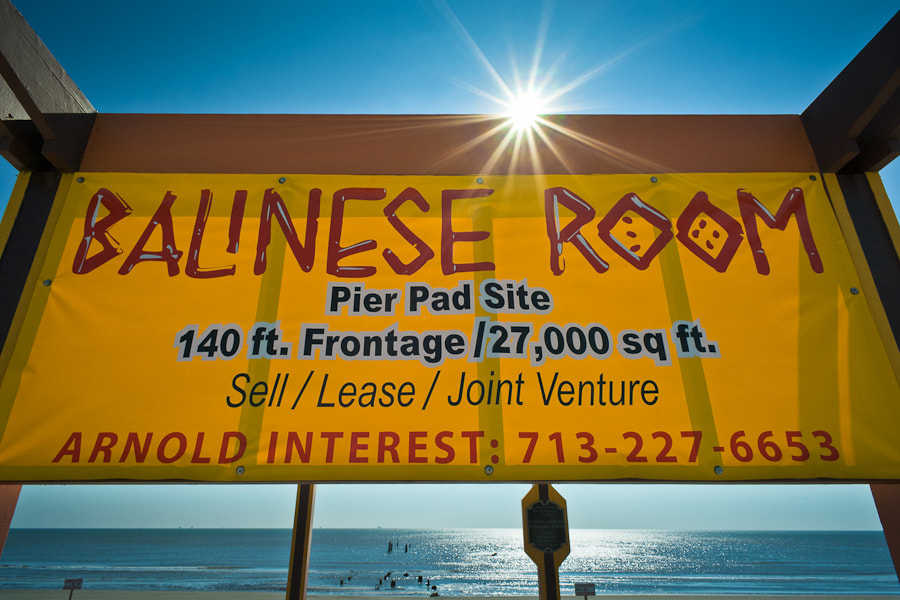 Where the Balinese Room once stood in Galveston before being wiped out by Hurricane Ike