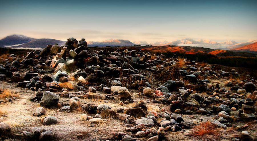 Rock field near Loch Loyne