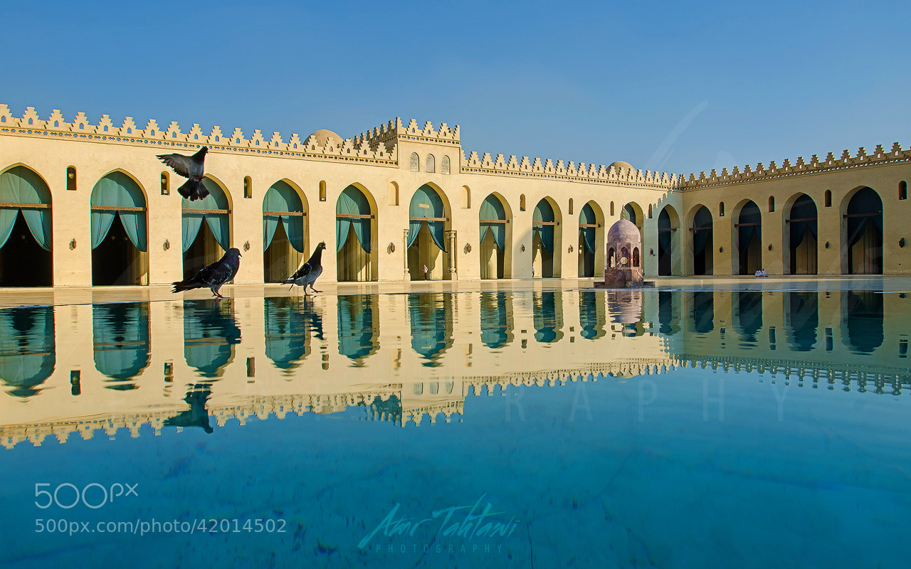Photograph Blue Heaven - Al-Hakim bi-Amr Allah Mosque by Amr Tahtawi on 500px
