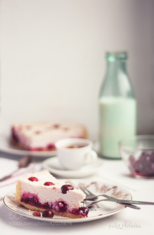 Photograph cherry cheesecake by Yulia Pletinka on 500px