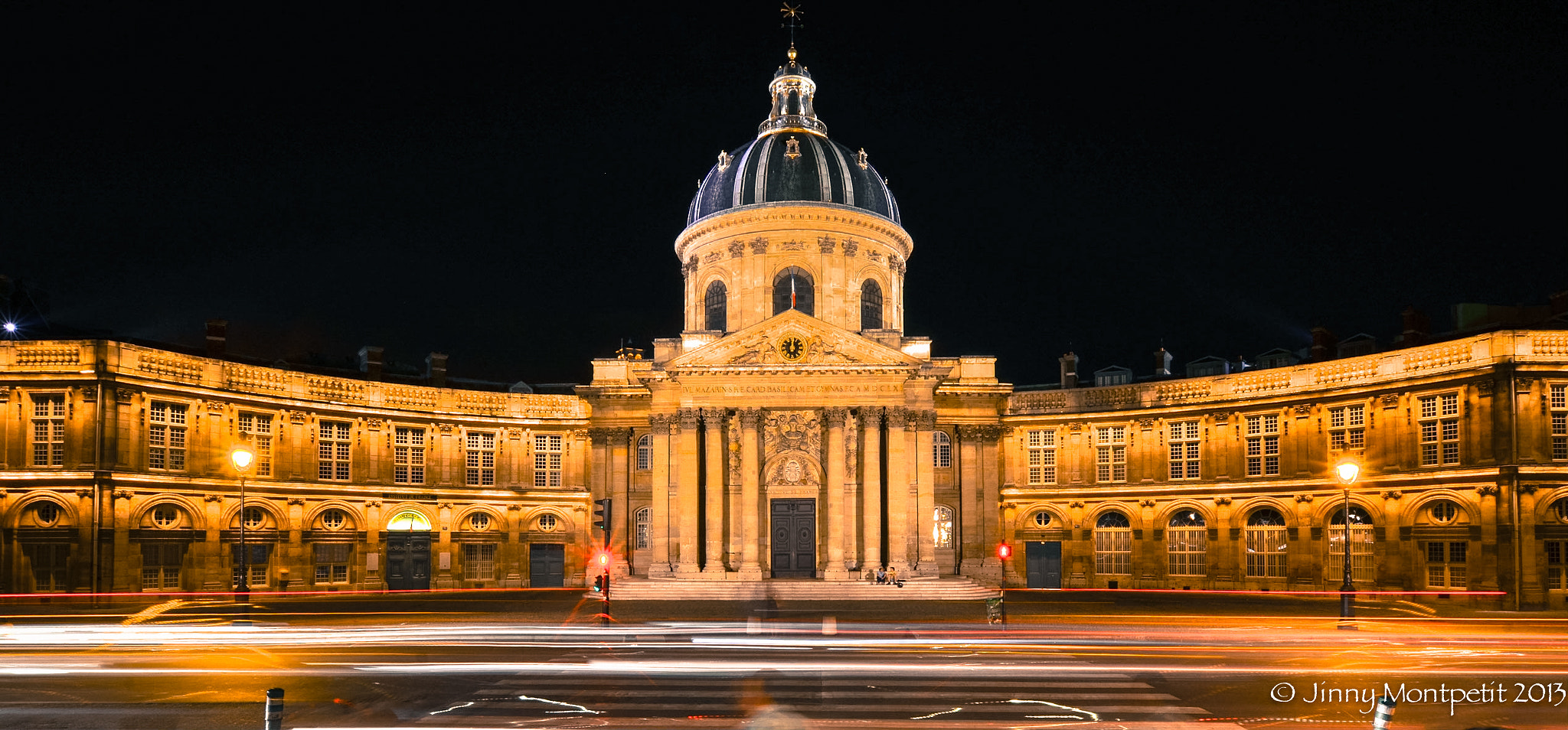 Photograph Institut de France by night by Jinny Montpetit on 500px