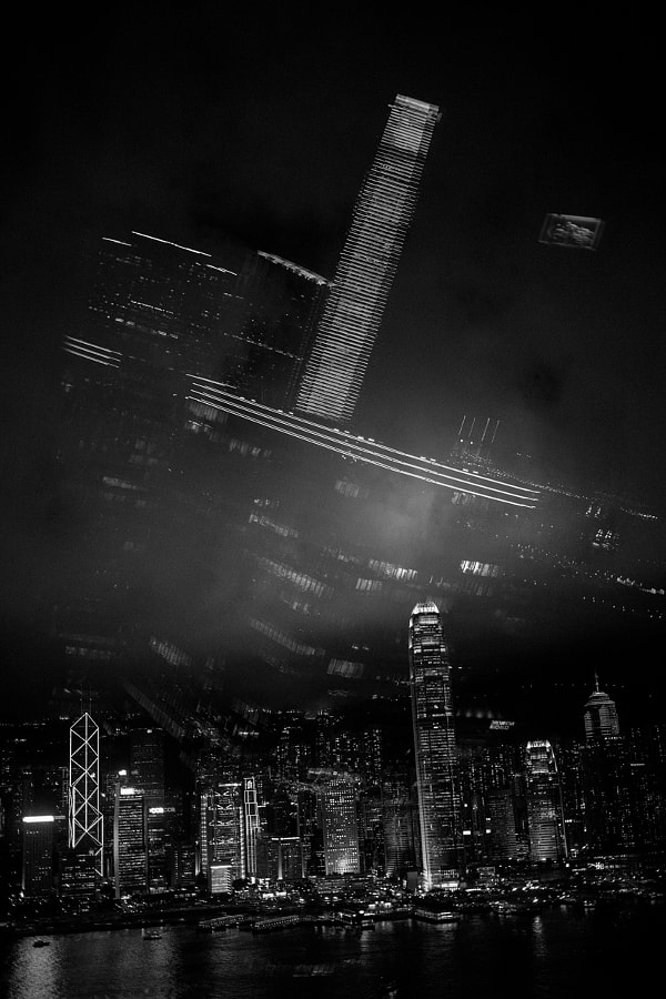 Hong Kong skyline reflections