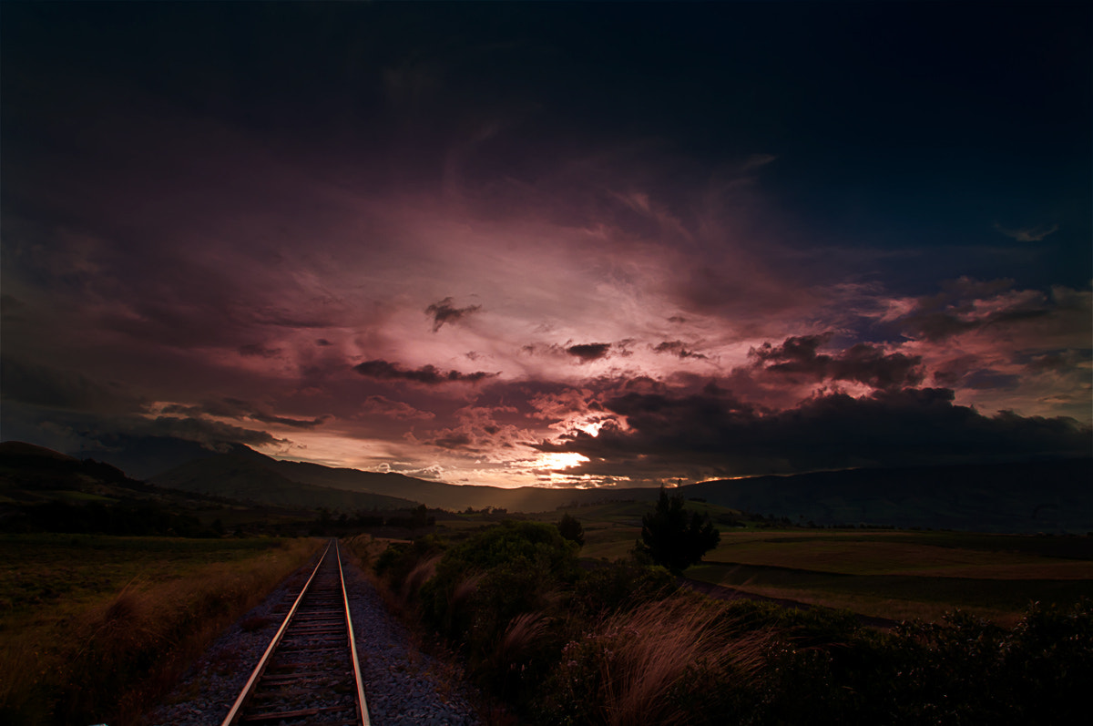 Photograph Railroad to the sunset II by Fernando Salas on 500px