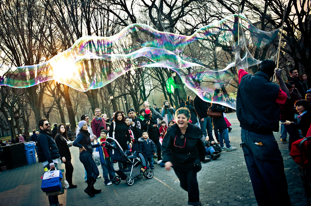 Photograph Bubbles in Central Park by Bryan Sargent on 500px