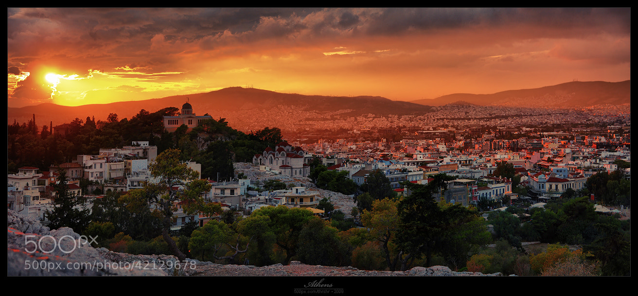 Photograph Athens In The Fire (pano) by Andrew Thrasher on 500px