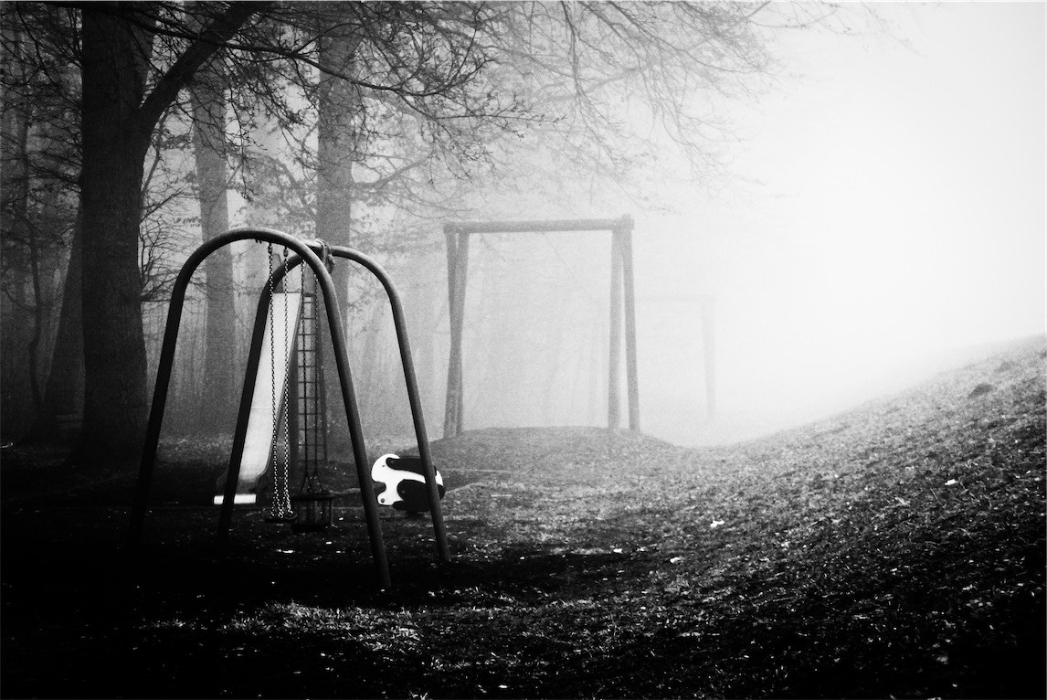 Photograph playground in fog by Florian Gampert on 500px