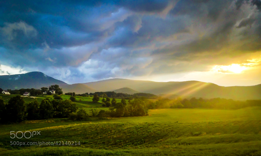 This photo was taken yesterday evening in Rappahannock County, Virginia just as a storm came over the mountains.   Please visit follow me on Facebook at http://fb.turnmeyer.com    or My Blog @ http://blogs.turnmeyer.com  Website @ http://www.scottytphoto.com & http://www.vaphoto.com
