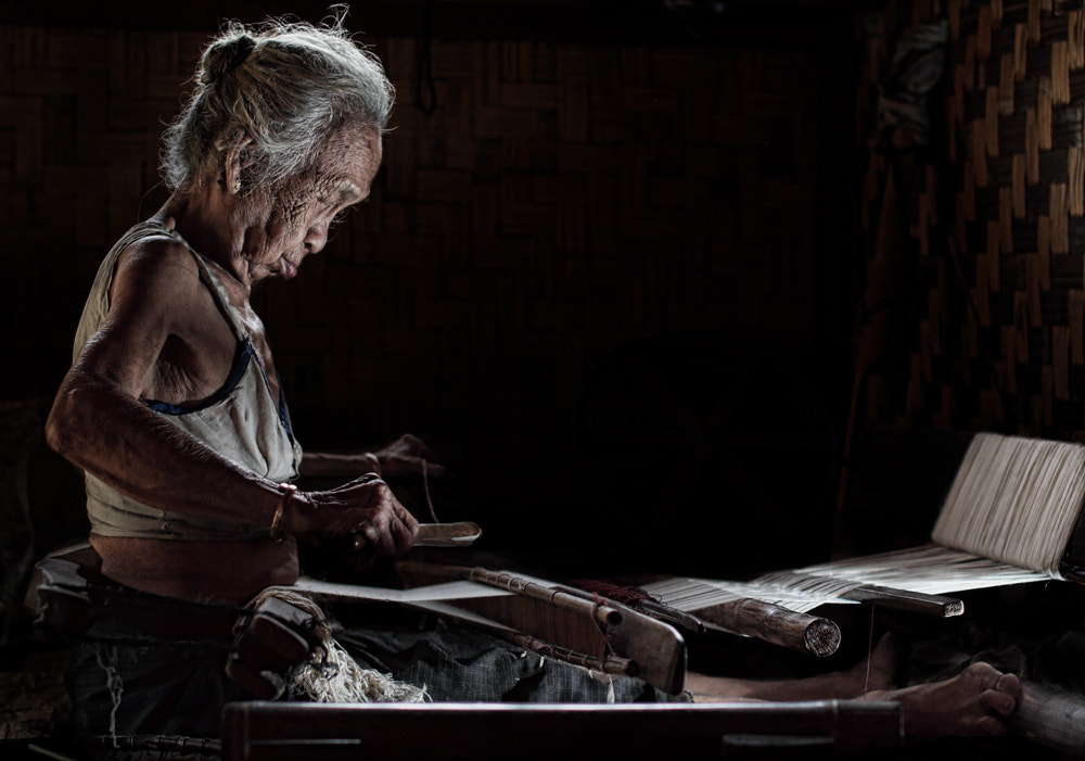 Photograph Grandmother weaving by nico fredia on 500px