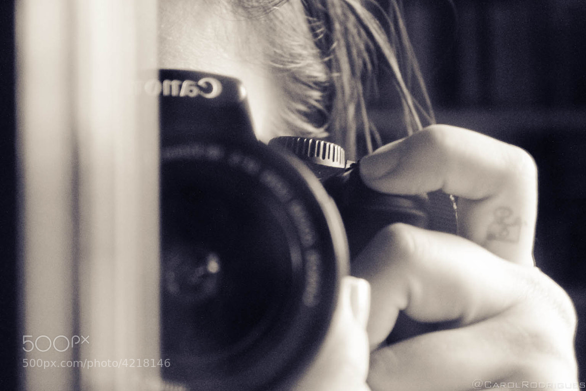Photograph Me and my camera by Carol Rodrigues on 500px