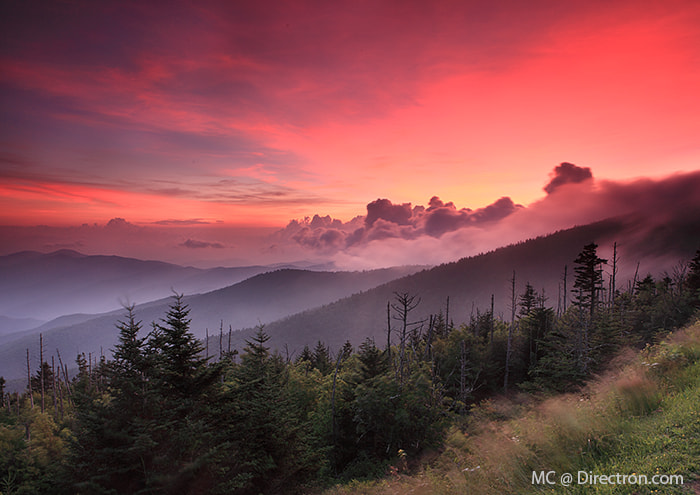 Photograph Sunset at Smoky Mountains by Michael Chang on 500px
