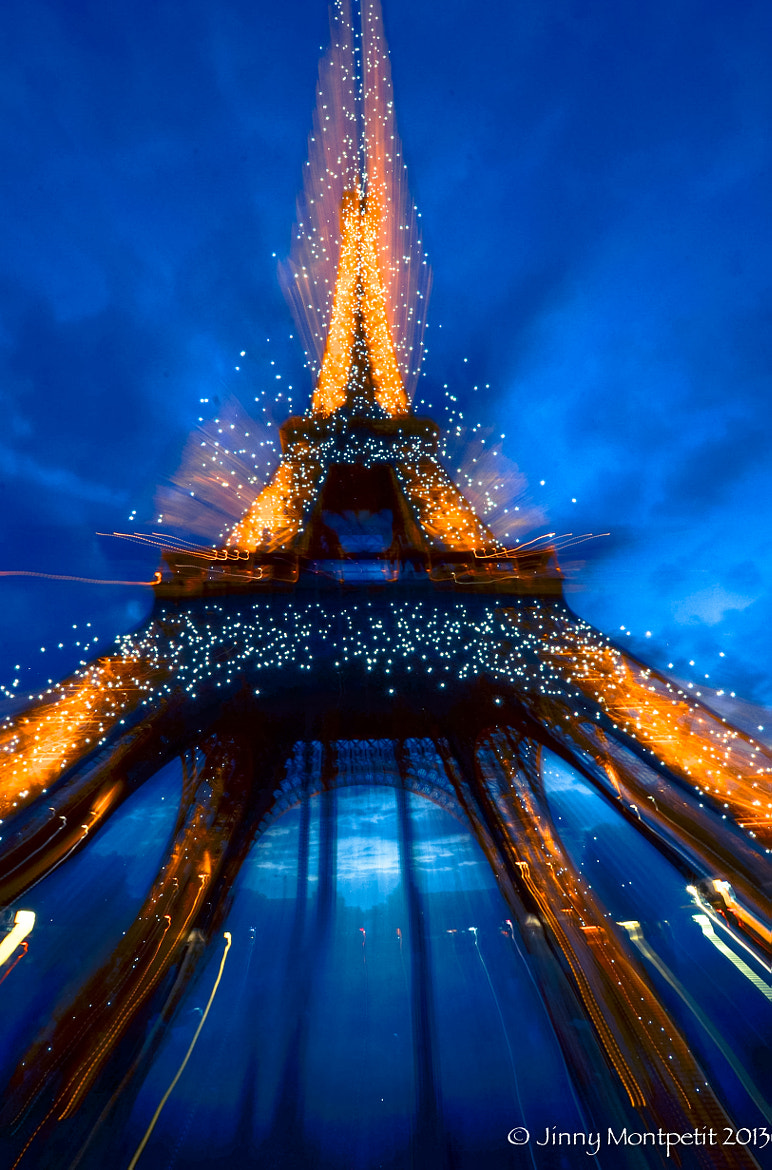 Photograph Eiffel tower by night abstract by Jinny Montpetit on 500px