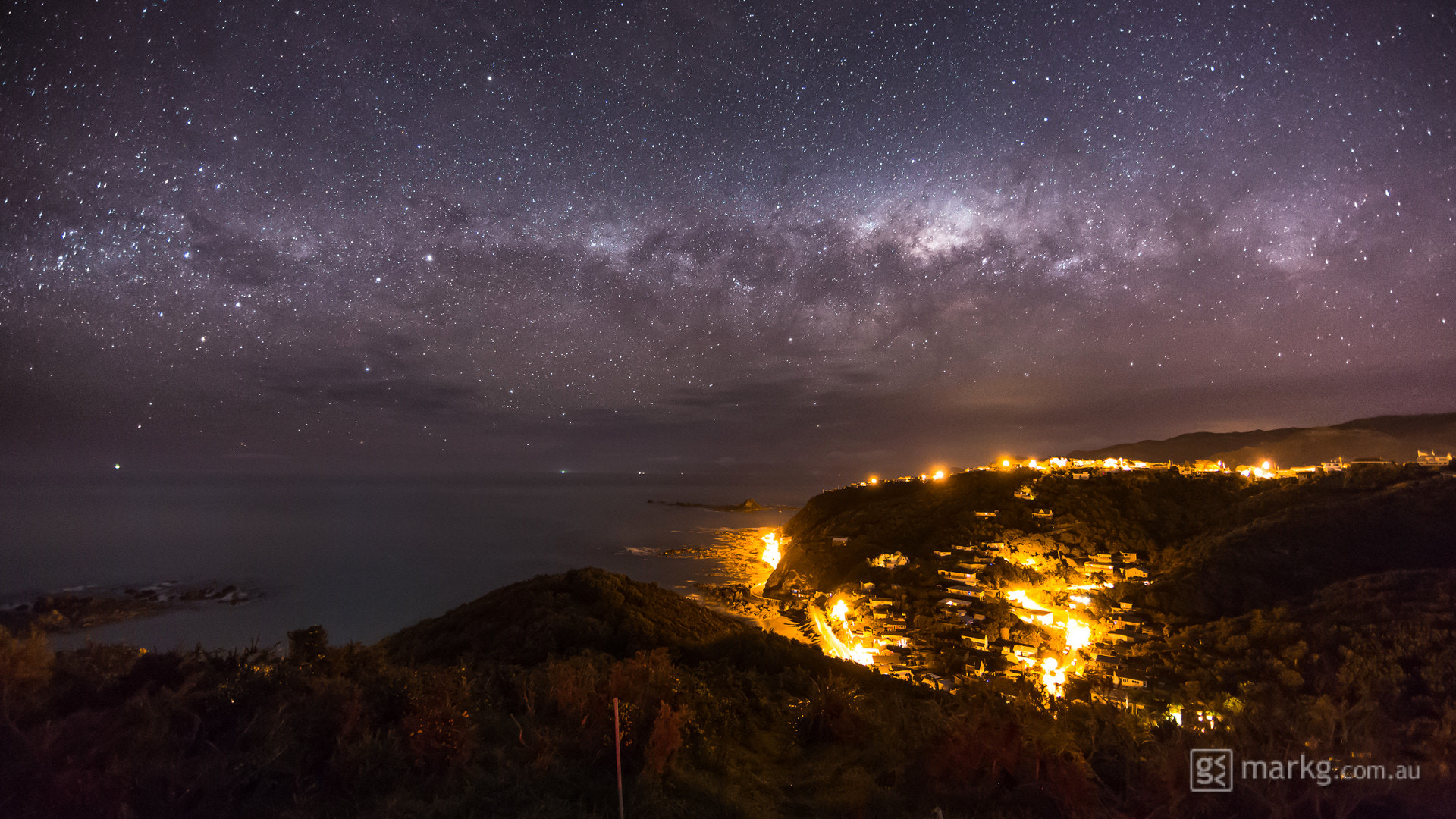 Photograph Milky Way Above the Wellington South Coast by Mark Gee on 500px