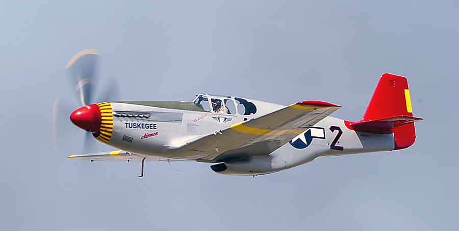 The star of the upcoming Red Tails movie, this P-51 is from the Tuskegee Airman.