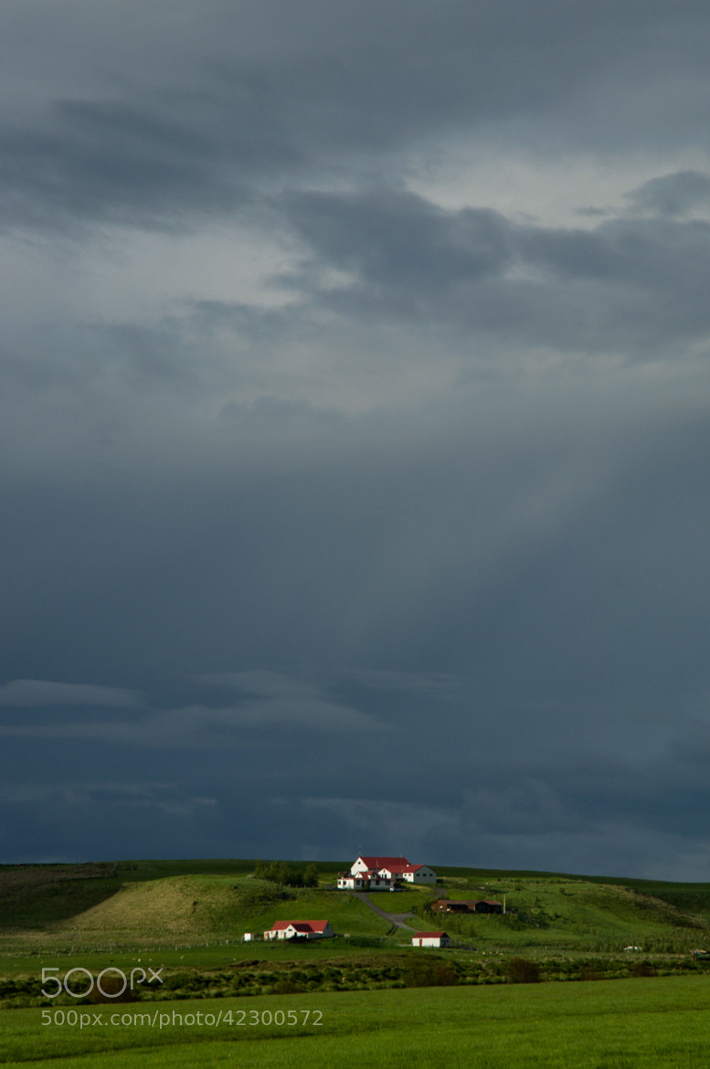 Photograph Icelandic farm before storm by Milan Tesar on 500px