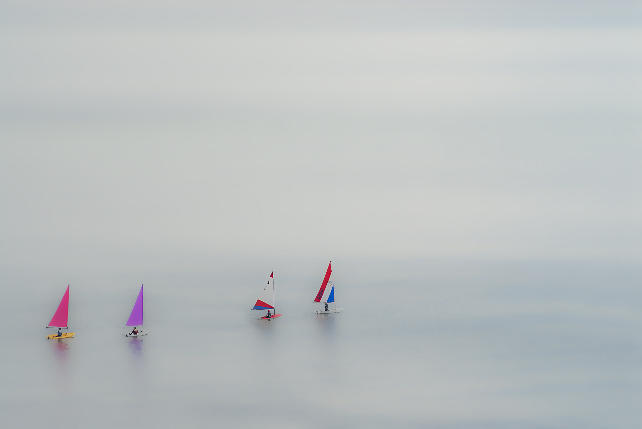 Photograph Four boats in the bay by Lee Bailey on 500px