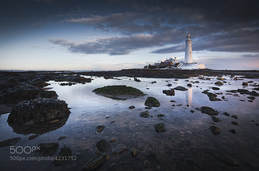 St Marys lighthouse in Newcastle Upon Tyne, UK.