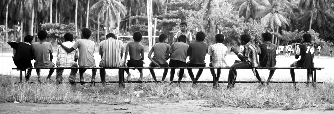 Photograph Maldivian football match spectators by Emanuele Colombo on 500px