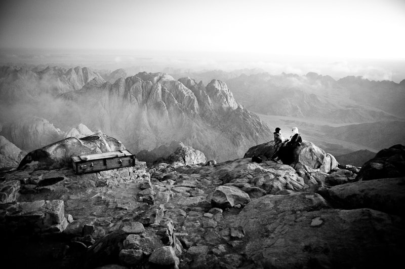 Photograph Bedouins looking at the horizon from the mount Sinai by Vino Photography on 500px