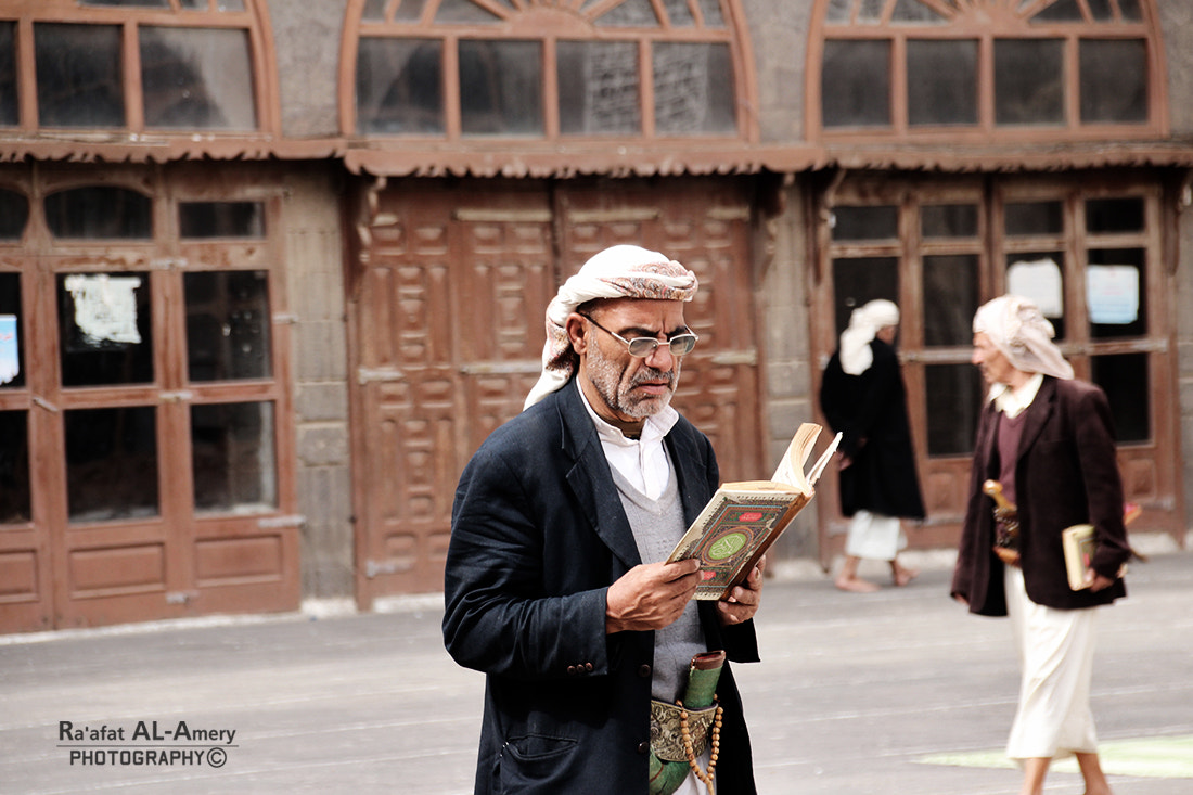 Photograph Old man reading Quran by Ra'afat Al-Amery on 500px