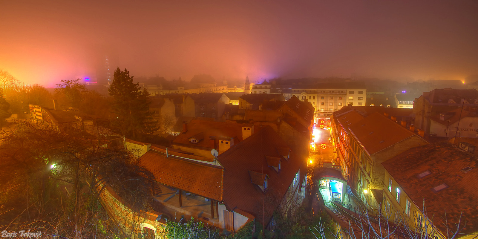 Photograph Foggy night in Zagreb by Boris Frkovic on 500px
