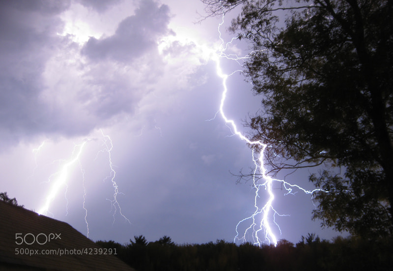Photograph Purple Lightning by Aaron Mello on 500px
