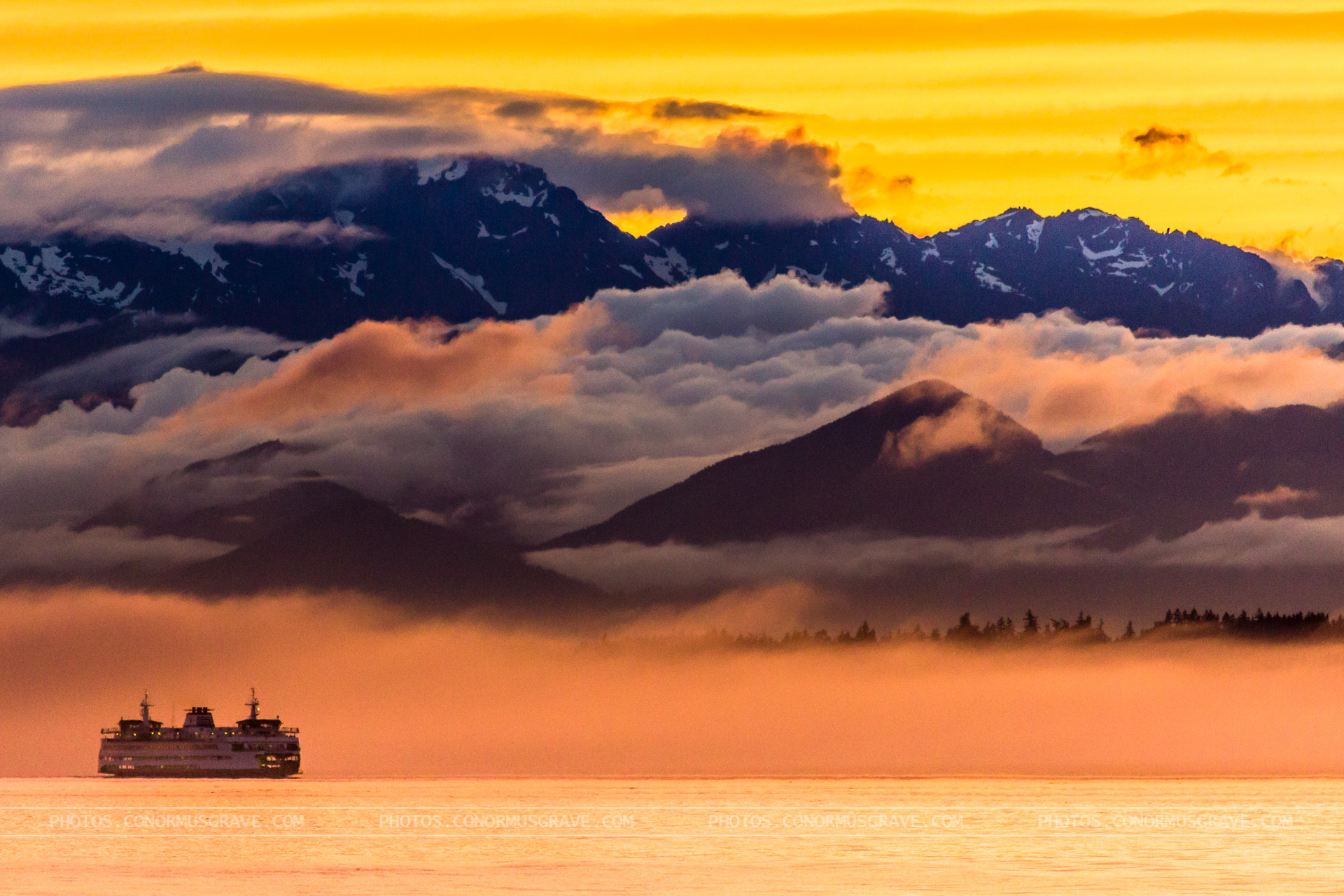 Photograph Bainbridge Island Ferry Coming out of the Fog by Conor Musgrave on 500px